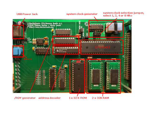 printed board with parts description